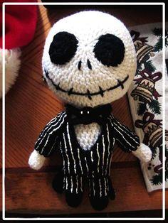 Handmade Jack Skellington Plush Nightmare Before Christmas Crochet - 2014 Halloween Pumpkin King Deviant Art #2014 #Halloween