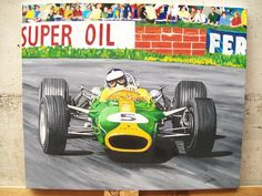 Jim Clark LOTUS F1 Olio su tela cm.50x60  superconstellation@alice.it