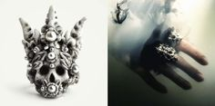 Coral Crown ring by Macabre Gadgets STORE-MACABREGADGETS.COM