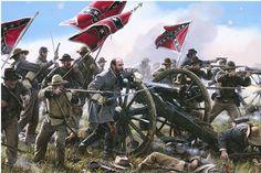 mort kunstler civil war paintings | John Paul Strain - Taking Battery A