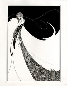 Aubrey Beardsley: An illustration for Oscar Wilde's Salome, 1894. Description from pinterest.com. I searched for this on bing.com/images