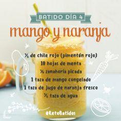 Día 4: Batido Mango y Naranja | Reto Batidos