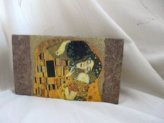 Gustav Klimt the Kiss Box Wooden Jewelry Box by TwoCatsAndAnOwl, $36.00