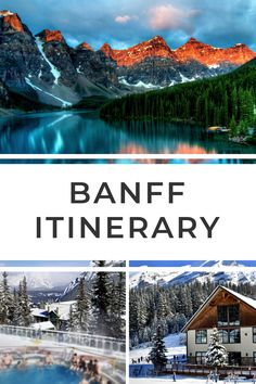 Perfect Banff itinerary for 3 days in Banff. Marvel at Banff's soaring mountains and ice blue lakes, take a scenic drive and find the best views over Banff! Beautiful Places To Visit, Cool Places To Visit, Quebec, Canada Winter, Montreal, Ontario, Canada Vancouver