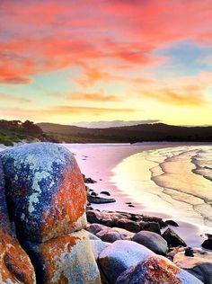 Sunset at Binalong Bay, Tasmania Australia
