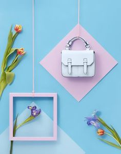 Product photography ideas | Handbag | Colorful and contemporary