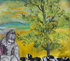 By: Satu Laaninen  Herkkupurkki: kollaasiHerkkupurkki: kollaasi pikkukimalainen.blogspot.com  drawing, portrait, collague, spring, thinker, writer Satu, Ballpoint Pen, My Works, Collages, Ink, Drawing, Spring, Pictures, Painting