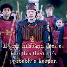Ron Weasley as Keeper #hogwarts #harry potter memes