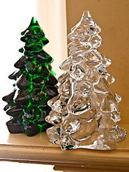 ...vyrostla v lese jedlička, tam mezi modříny... :-) You'll be proud to pass down this heirloom quality decorative Mosser glass tree and it's still made in the USA