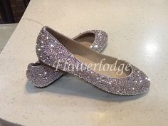 c272145dd79 Sparkly Women Ballet Flats Shoes Clean Shiny bling crystal stones swarovski women  shoes customize gi Clean