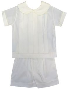 La Jenns Heirloom Ring Bearer Special Occasion Blouse and Shorts