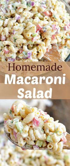 This is our favorite Macaroni Salad full of red onions, celery, bell peppers, herbs, and of course, delicious creamy dressing. Macaroni Salad Ingredients, Homemade Macaroni Salad, Cold Macaroni Salad, Great Recipes, Favorite Recipes, Cod Recipes, Pizza Recipes, Potato Recipes, Casserole Recipes