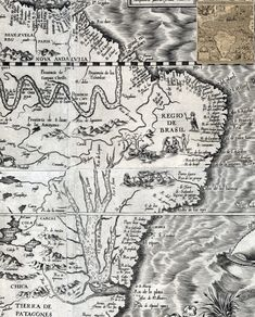 Mapa Diego Gutiérrez - Mapas antigos do Brasil <3