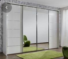 visual result of mirror bifold closet door Previous Post Next Post Mirrored Bifold Closet Doors, Mirror Closet Doors, Bedroom Closet Doors, Bedroom Closet Design, Home Room Design, Bedroom Built In Wardrobe, 4 Door Wardrobe, Sliding Wardrobe Doors, Sliding Doors