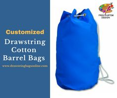 Don't miss Free Custom design on Customized Drawstring Cotton Barrel Bags.  Buy 100 Cotton Drawstring Bags at $623.99 only!    #CottonDrawstringBags #PromotionalProduct #Sale Cotton Drawstring Bags, Drawstring Backpack, Barrel Bag, Custom Design, Stuff To Buy, Free, Bespoke Design, Drawstring Backpack Tutorial