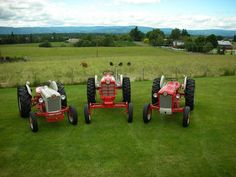 The Three Ford Musketeers Antique Tractors, Vintage Tractors, Tractor Attachments, Classic Tractor, Ford Tractors, Work Horses, Down On The Farm, Musketeers, Old Farm
