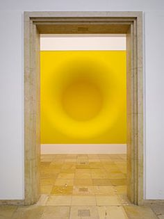 Axel Vervoordt plays with depth and perspective in this sunny yellow piece.