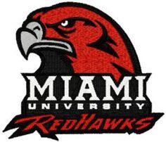 Miami University logo machine embroidery design. Machine embroidery design. www.embroideres.com