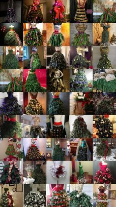 46 Fashion Inspired Christmas Trees Made From Dress Forms – Style Estate – - Weihnachtskleid DIY Mannequin Christmas Tree, Dress Form Christmas Tree, Unique Christmas Trees, Noel Christmas, Xmas Tree, Beautiful Christmas, Winter Christmas, All Things Christmas, Christmas Tree Decorations