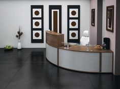 Receptiv Reception Desk http://www.genesys-uk.com/reception_desks.html  Genesys Office Furniture - Home Page: http://www.genesys-uk.com  Receptiv Reception Desks consist of modular base and top units, supplied in various sizes and finishes, with accessories such as paper storage,  CD racks and key lockers, as well as integrated pedestals.