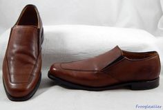 Allen Edmonds mens Milford loafers shoes 11 D brown leather #AllenEdmonds #LoafersSlipOns