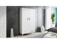Šatní skříň Lotta 110 2D2S Skříňa je vyrobená z lamina o síle 16 mm. Horní deska je zesílena, má tloušťku 25 mm a tak zajistí větší stabilitu skříně. Nožky, které jsou 15 cm vysoké, jsou … Tall Cabinet Storage, Divider, Room, Furniture, Home Decor, Bedroom, Decoration Home, Room Decor, Rooms