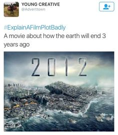 Explain a film plot badly - 2012 5 years now 😂 I Love To Laugh, Make You Smile, Explain A Film Plot Badly, Bad Film, Laugh Out Loud, Funny Texts, Funny Pictures, Funny Pics, Funny Stuff