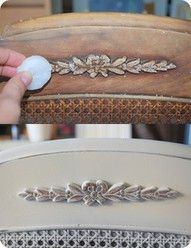 use candle wax before spray painting to give that worn look; brilliant! Old Furniture, Furniture Making, Refurbished Furniture, Furniture Makeover, Repurposed Furniture, Furniture Projects, Shabby Chic Furniture, Diy Furniture Painting, Diy Furniture Refinishing