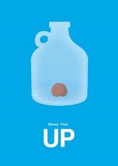Up Movie Poster, via Minimalist Movie Posters