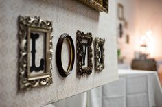 wedding decor ideas frames