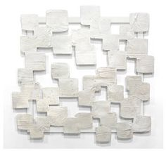 """""""Soft White  Squares Wall Sculpture,"""" original abstract sculpture by artist Jennifer Wagner (USA) available at Saatchi Art #SaatchiArt."""