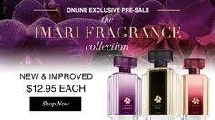 Imari Fragrance Collection! Love the new Imari elixir fragrance, definitely a must for a perfume collecter! Youravon.com/megankurtz