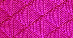 Free pattern using Knit and Purl combinations. Cast on a multiple of 12 stitches and 12- row repeat.