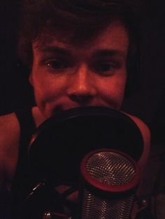 """Recording a tune :-)"" -ashton"