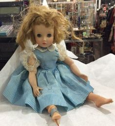 16-034-Madame-Alexander-Elise-doll-w-stockings-lace-amp-gingham-tagged-dress