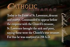 #SaintLawrence #martyr #prayforus