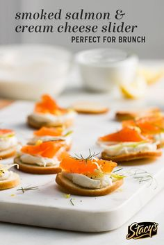 We love this simple and elegant brunch favorite from Stephanie Le! Cream cheese, smoked salmon and Stacy's® Bagel Chips create the perfect spring and summer brunch recipe!
