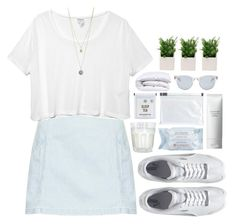 """""""' you blue my mind"""" by oramivedi ❤ liked on Polyvore featuring Topshop, Monki, Puma, First Aid Beauty, Shiseido, Maison Margiela, Dorothy Perkins and Sun Buddies"""