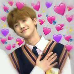 Meme Pictures, Reaction Pictures, Nct 127, Bts Memes, Kpop, Heart Meme, All Meme, Cute Love Memes, Nct Dream Jaemin
