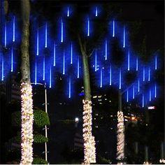 $11.79 AUD - 8 Falling Rain Drop/Icicle Snow Fall String Led Xmas Tree Cascading Light Tp #ebay #Home & Garden