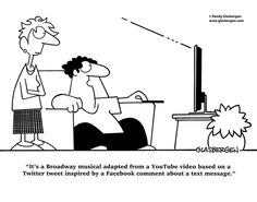 Cartoons About Texting / Text Messages - Glasbergen Cartoon Service Social Media Marketing, Digital Marketing, Social Media Humor, Today Cartoon, Broadway, Technology Humor, Pure Fun, Serious Business, Read Comics