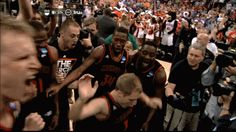 Mercer beat Duke today because screw your brackets , that's why, and GIFs of Kevin Canevari hitting the Nae Nae after the win is taking over...