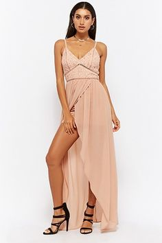 Crochet Lace High-Low Cami Dress | Forever 21