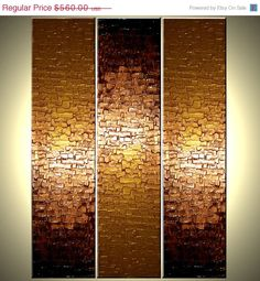 Original Large Textured Painting Contemporary Gold by Laffertyart