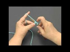 "How to Knook - when I first saw the knook, I thought it was ""hokey,"" but after seeing this video, I am changing my mind. It could be a way for crocheters who have a hard time holding two knitting needles do some knitting. The cord substitutes for the knitting needle that would be there, and the hook makes it easy to pull stitches through the loops."