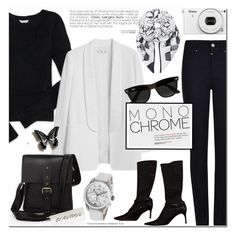 Monochrome by cly88 on Polyvore featuring polyvore, fashion, style, Aéropostale, MANGO, Armani Jeans, Helmut Lang, Swiss Army, Aspinal of London, Ray-Ban, clothing, monochrome, watches and tuccipolo