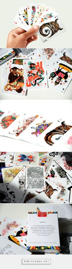 BeautifulFull-Color Deck of Playing Cards Illustrated by55 Artists