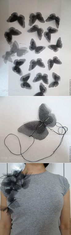 """""""Pillangók a válladon"""": az átalakulás egy közönséges póló tervezője dolog - Fair Masters - kézzel készített, kézzel készített"""