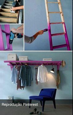 sweet home wieso nicht einer alten leiter ein neues leben geben h ngen sie eine leiter quer an. Black Bedroom Furniture Sets. Home Design Ideas