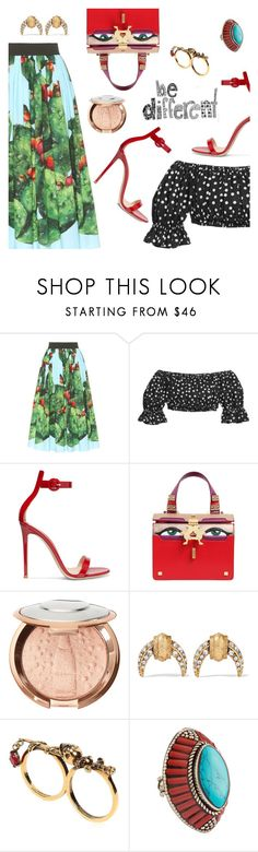 """Be different"" by dressedbyrose ❤ liked on Polyvore featuring Dolce&Gabbana, Gianvito Rossi, Giancarlo Petriglia, Elizabeth Cole, Alexander McQueen, Devon Leigh and polyvoreeditorial"